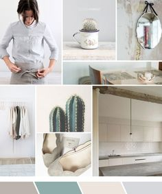 Inspiration board: Minimalistic taupe and grey…and a guest post!