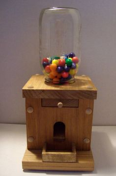 wooden candy dispenser plans - Google Search