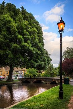 Lamp Post at Bourton on the Water, Gloucestershire, England