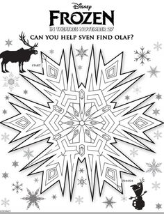 Disney's new movie - Frozen – Free Printable Activity Sheets for Kids,  Mazes, Memory Game & more !