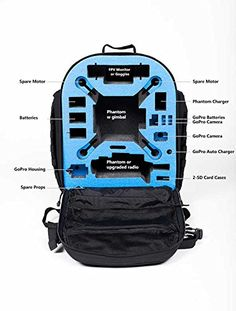 Go Professional Cases Black Fieldline Phantom 2Phantom 2 with H33D Backpack >>> This is an Amazon Affiliate link. Want additional info? Click on the image.