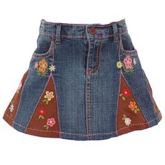 Old jeans to skirt idea.... cute for little girls