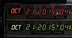 Oct. 21, 2015- Back to the Future Day!