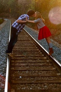 Would love to have a photo like this of me & Anthony esp since we live right below the railroad tracks!!