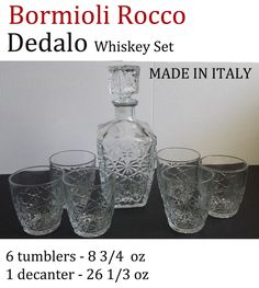#whiskey set by Bormioli Rocco model Dedalo (new in box ) visit our ebay store at  http://stores.ebay.com/esquirestore