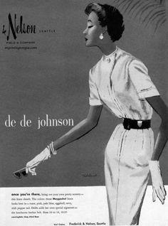 Frederick and Nelson Ad   Frederick & Nelson, Seattle - De De Johnson 1953