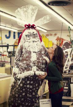 Gianormous Chocolate Santa!