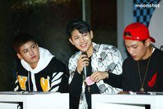 150930 Yunhyeong, Donghyuk & Chanwoo @ Moonshot X iKON Fanmeet  © MOONSHOT   DO NOT edit or remove the logo.