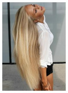 I have to try this on mine and my daughter's hair! To get long, thick, super soft hair: massage organic coconut oil in your hair 2-4 times a week (leave in 10-25 mins) wash out with shampoo. Do this until hair is growing and healthy (no split-ends) and reduce to 2-4 times a month. Works amazingly!!