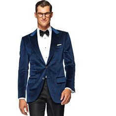 From office parties to black-tie events, this blue velvet dinner jacket will take you through a range of festive occasions in top-notch style.   http://us.suitsupply.com/jackets/dinner-jacket-blue-plain/C802I.html