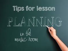 Mrs. Miracle's Music Room: Lesson Planning Tips
