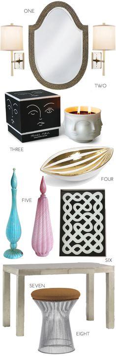 Vanity Fair... Essentials for building the perfect vanity.