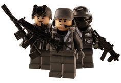 Urban Army - 3 Man Squad - Custom Lego Figures