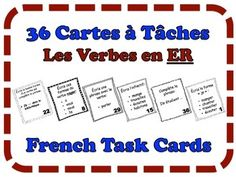 French Task Cards, Verbs: ER Verbs