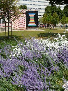 Nouveau fleurissement près du WIP Villette dans le parc de la Villette (Paris 19e) http://www.pariscotejardin.fr/2013/07/nouveau-fleurissement-pres-du-wip-villette-dans-le-parc-de-la-villette-paris-19e/