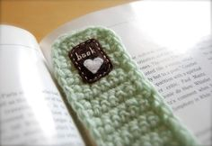 Your place to buy and sell all things handmade Creative Bookmarks, Recycled Yarn, Crochet Bookmarks, Crochet Things, Hand Crochet, Book Lovers, Mint Green, Om, Patches