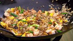Egg fried rice with five-spice belly pork