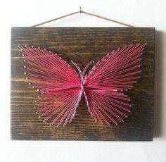 Arte cadena mariposa muestra de arte de cadena por ThreadTherapy1