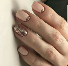 A great neutral nail with a little flair!