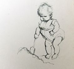 Summer Picture. Diggers. Children on the by PeonyandThistlePaper, £15.00
