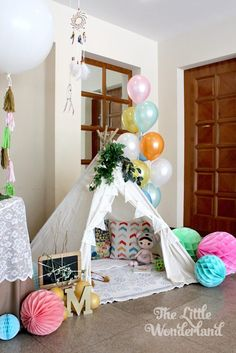 Whimsical Woodland Camping 1st Birthday Party via Kara's Party Ideas | KarasPartyIdeas.com (21)