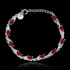Novel Women's Classy Design Silver bracelet with Rhinestone crystal