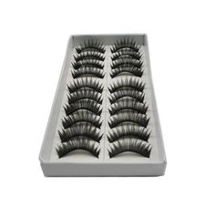 10 Pairs Professional Make Up False Eye lash Eyelashes-For Christmas Gift - ackage included : 10 Pairs x False Eyelashes Product Features  100% Brand new Make your eyes look bright and attractive 10 pairs of eyelashes in natural style, can be used fo