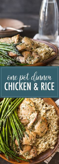 This One Pot Chicken and Rice Dinner cooks all together with minimal prep work, and the result is a delicious, comforting meal!
