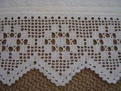 Hooked on crochet: Toalha branca com crochê