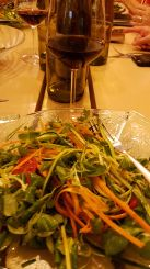 Green salads made with fresh ingredients from the Italian region of Lake Como