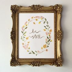 Be Still 8x10 watercolor painting print by earthandfleur on Etsy