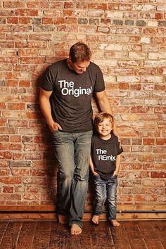 f0e1c6ac Fathers Day Gift Matching Family Shirts, Original and Remix Matching  Shirts, Shirts Match Family Shirts, Dad Shirts, Son Shirts, T-shirt Set