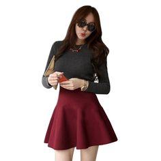 High Waist Bubble Pleated Mini Skirt