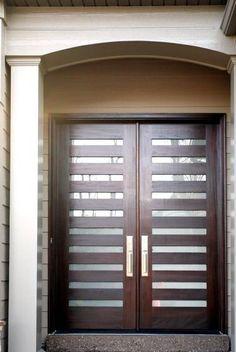modern door with slats