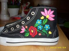 """I want these so bad!!  shoe with """"kalocsai"""" pattern"""
