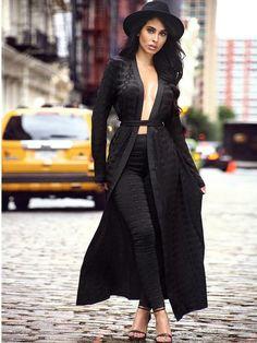 Ellie Jacquard Black Bandage Cape Sweater with Tie