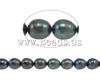Free shipping!!!Rice Cultured Freshwater Pearl Beads,Costume jewelry, natural, green, A Grade, 8-9mm, Hole:Approx 0.8mm