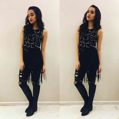 Cute shraddha at rock on 2 promotion