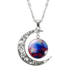 Moon & Glass Galaxy Necklace