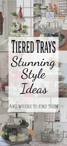 3 Tiered Tray Stand Decor are great for budget decorating! They make great organization and storage as well as beautiful displays for seasonal decorating such as christmas decor, fall, and spring. So many great ideas!