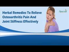 Dear friend, in this video we are going to discuss about the herbal remedies to relieve osteoarthritis pain. Osteoarthritis is one of the most common health issues experienced by men and women. Herbal remedies can provide the best relief to them.  You can find more about the herbal remedies to relieve osteoarthritis pain at http://www.ayurvedresearch.com/herbal-treatment-for-osteoarthritis-relief.htm