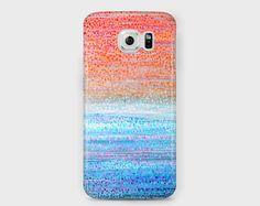 Lilac and peach Samsung phone case