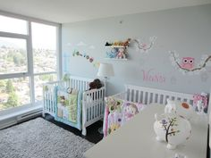 Twins Nursery, boy & girl.