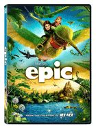 EPIC is a 3D CG action-adventure comedy that reveals a hidden world unlike any other. From the creators of ICE AGE and RIO, EPIC tells the story of an ongoing battle deep in the forest between the forces of good and the forces of evil. When a teen age girl finds herself magically transported into this secret universe, she must band together with a rag-tag team of fun and whimsical characters in order to save their world... and ours.