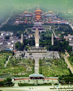 Chongsheng Temple where the Three Pagodas are #Dali, #Yunnan