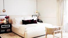 christina aguilera's stylist simone harouche's clean bedroom.