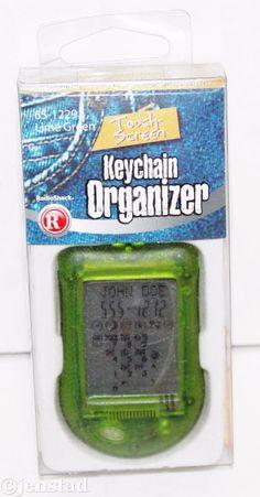 "RADIOSHACK TOUCH 2"" SCREEN DIGITAL KEYCHAIN ORGANIZER TRANSLUCENT GREEN NEW 2005 #RadioShack"