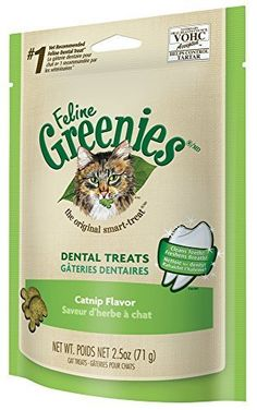 GREENIES Feline Dental Treat Catnip Flavor - 2.5 Oz, Pack of 6 * Read more reviews of the product by visiting the link on the image.