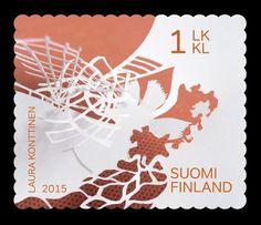 Postimerkki Suomen Taiteiljaseura 150 vuotta (19.1.2015) - Suomen ... Postage Stamps, Finland, Nostalgia, Paper, Design, Stamps, Historia