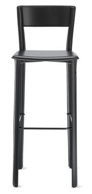 I like the simple lines of this barstool. It looks comfortable and has a back. Not sure about the color Allegro Barstool